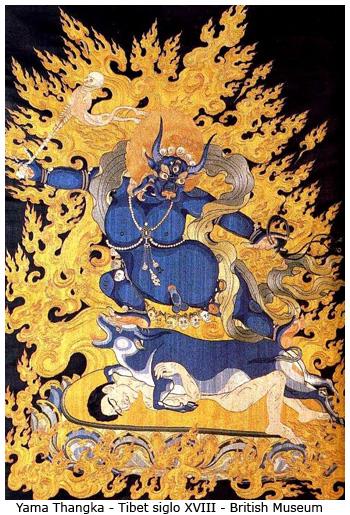 Representaciones e imágenes de Yama, el señor de la muerte.
